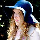 Portrait of Grace ~ her love of hats by Karen  Betts