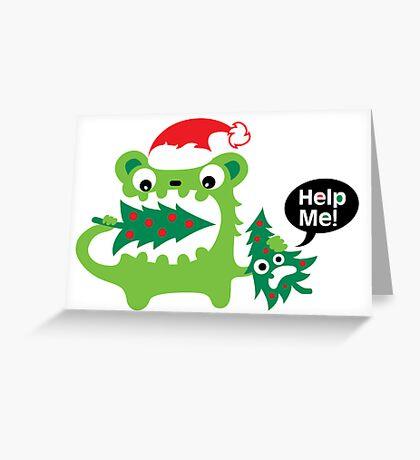 Help Me Christmas card Greeting Card