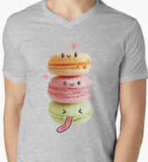 Funny Macarons Mens V-Neck T-Shirt