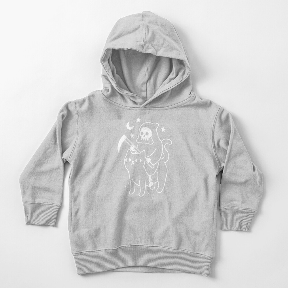 Death Rides A Black Cat Toddler Pullover Hoodie