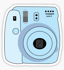 Baby Blue polaroid Sticker