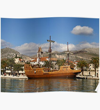 Wooden Ship Poster