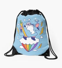 Wizard In The Sky Drawstring Bag