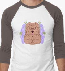 Furrow the Shar Pei Baseball ¾ Sleeve T-Shirt