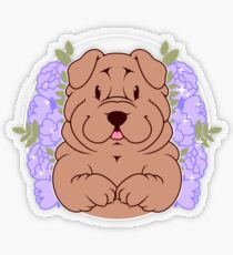 Furrow the Shar Pei Transparent Sticker