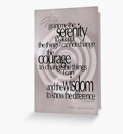 Serenity Prayer 02 © Vicki Ferrari Greeting Card