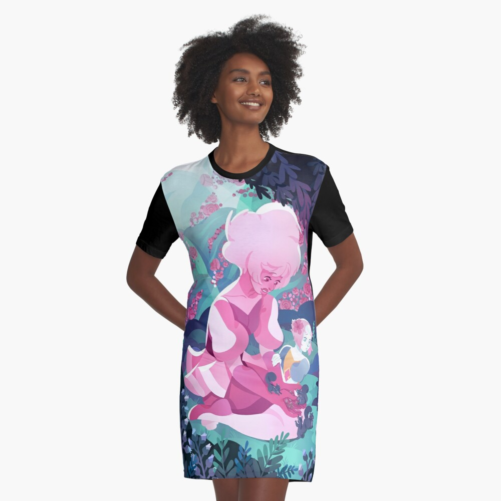 My World Graphic T-Shirt Dress