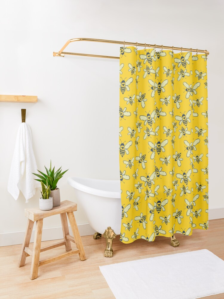 Alternate view of Honey Makers Shower Curtain