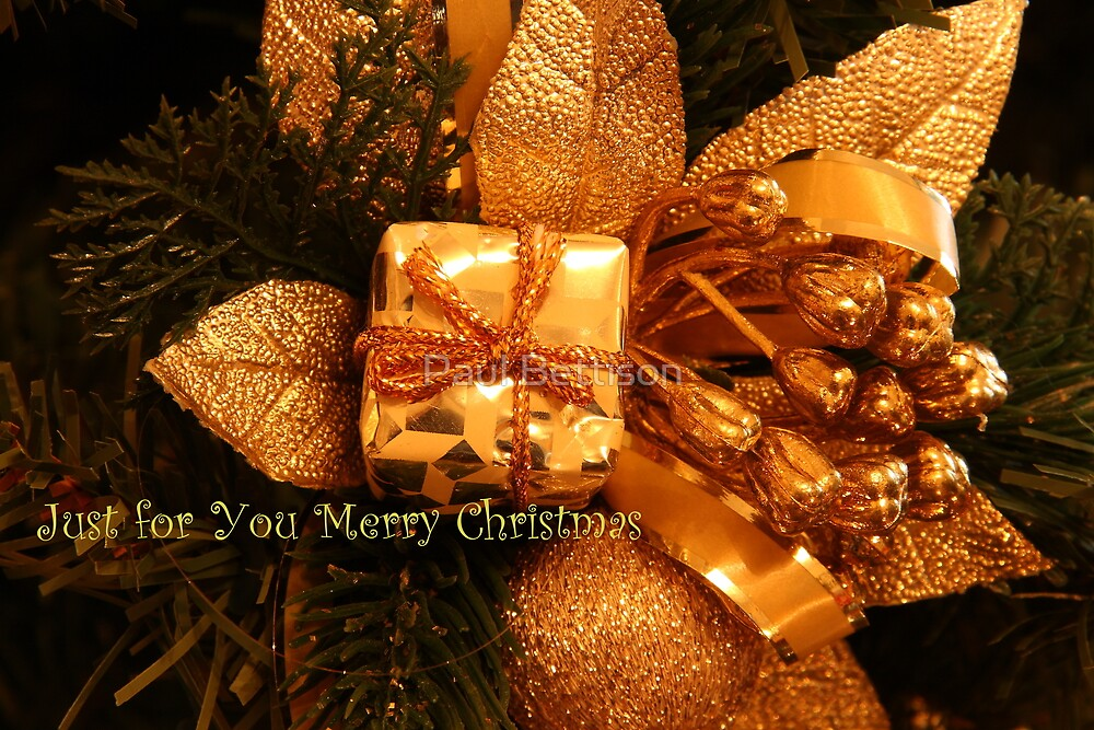 """Just for You """"Merry Christmas"""" by Paul Bettison"""