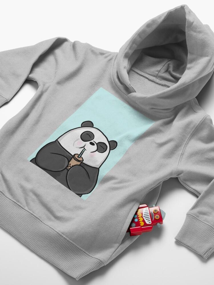 Alternate view of Happy Panda Toddler Pullover Hoodie