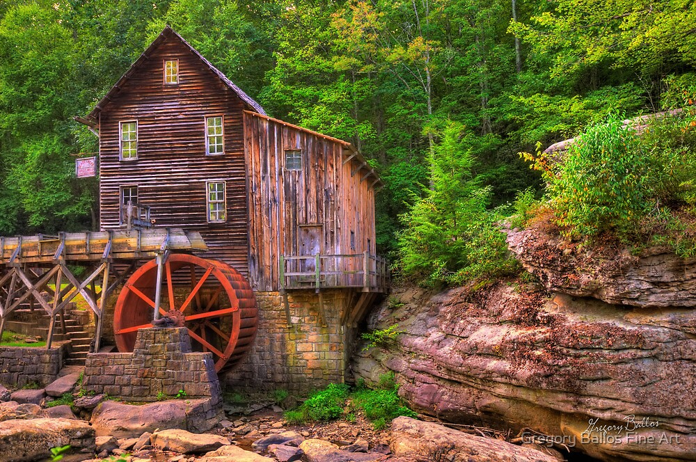 The Glade Creek Grist Mill - Layland, WV by Gregory Ballos
