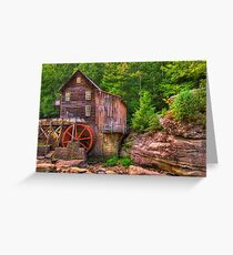 The Glade Creek Grist Mill - Layland, WV Greeting Card