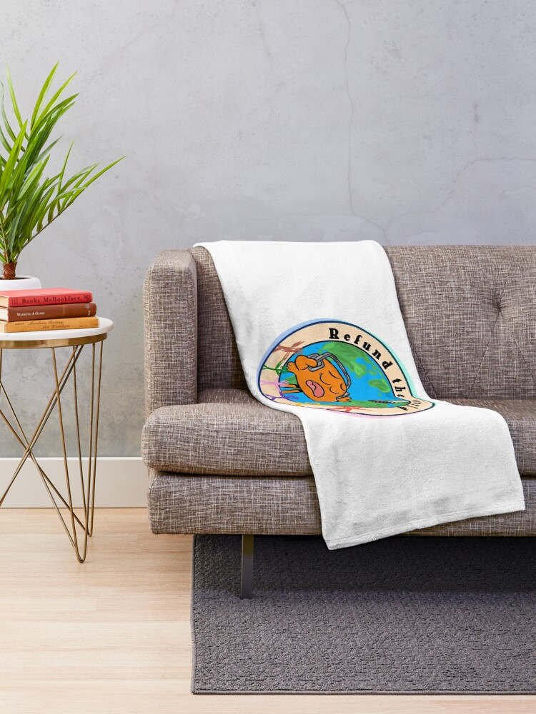 Alternate view of Refund the World - The Amazing World of Gumball Throw Blanket