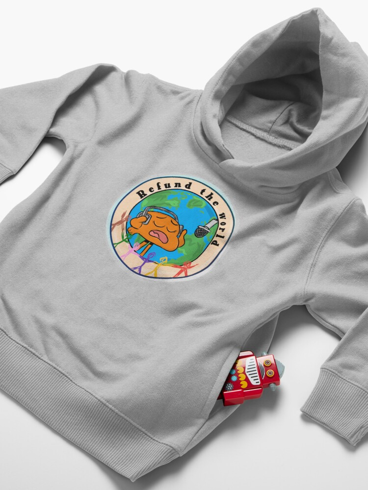 Alternate view of Refund the World - The Amazing World of Gumball Toddler Pullover Hoodie