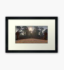 Sunrise at Preah Khan Gate Framed Print