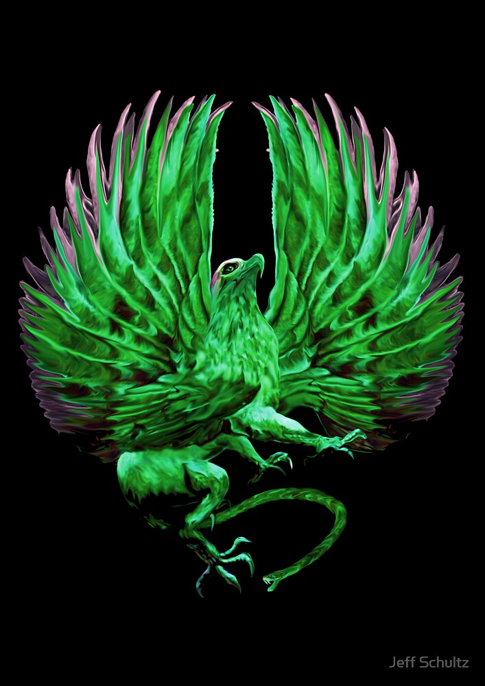 The Griffin (Green Vengeance Logo)  by Jeff Schultz