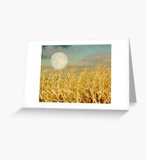 Corn Moon Greeting Card