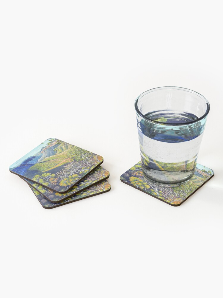 Alternate view of Govetts Leap Lookout, Blue Mountains Coasters (Set of 4)
