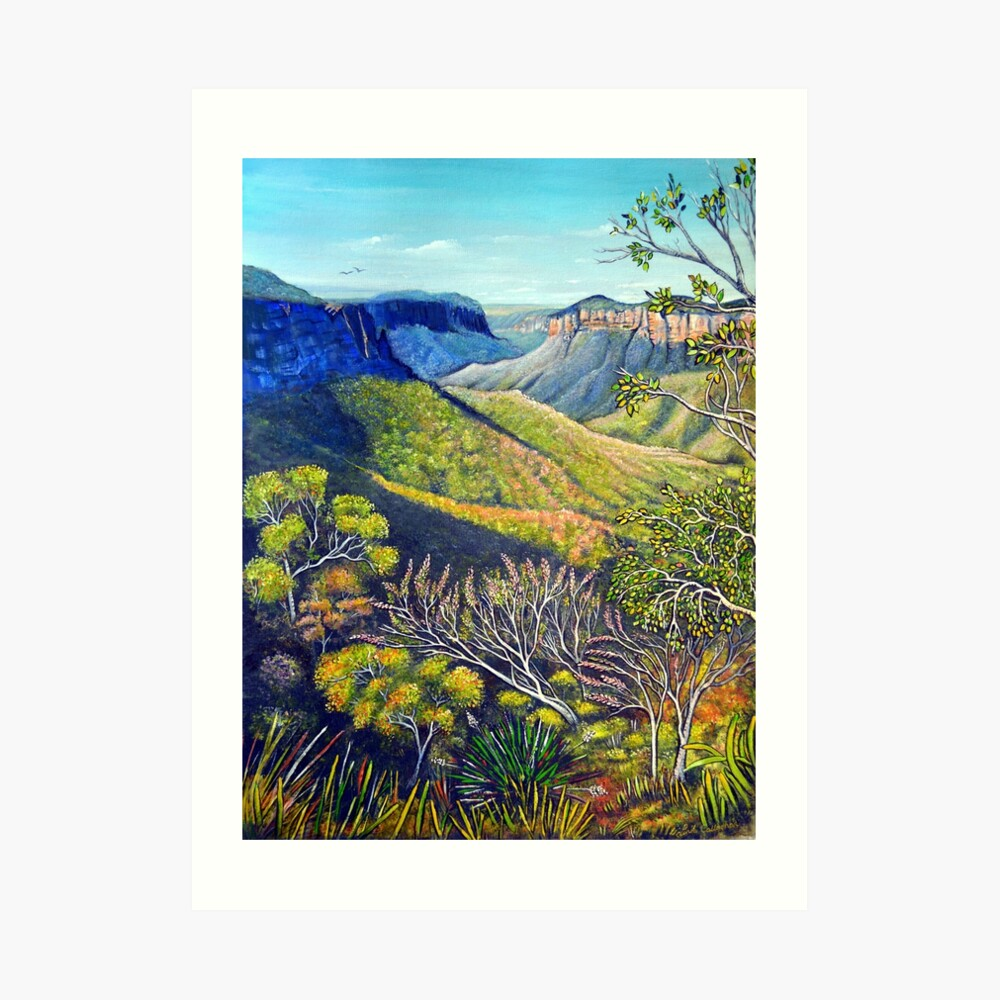 Govetts Leap Lookout, Blue Mountains Art Print