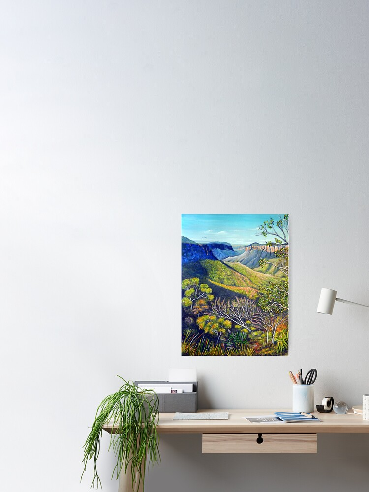 Alternate view of Govetts Leap Lookout, Blue Mountains Poster