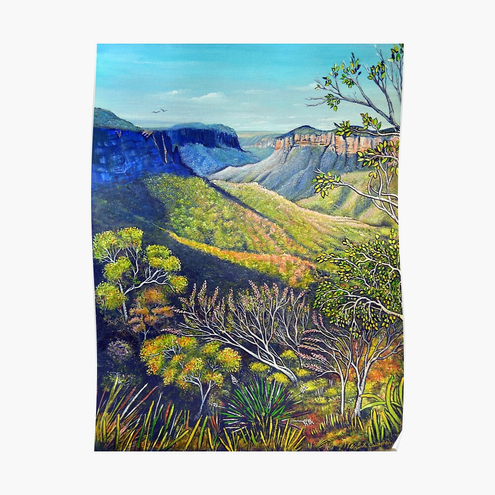 Govetts Leap Lookout, Blue Mountains Poster
