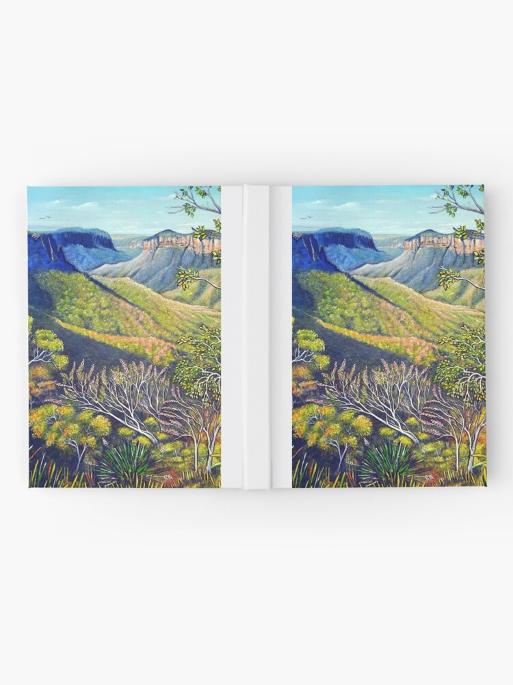 Alternate view of Govetts Leap Lookout, Blue Mountains Hardcover Journal