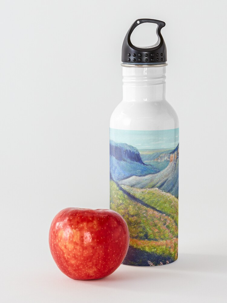 Alternate view of Govetts Leap Lookout, Blue Mountains Water Bottle