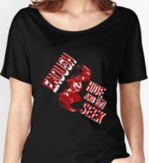 BS - No More Games #White_Rage Women's Relaxed Fit T-Shirt