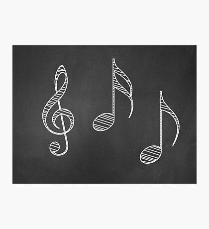 Musiknoten auf Tafel Fotodruck