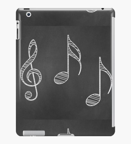 Musiknoten auf Tafel iPad-Hülle & Klebefolie