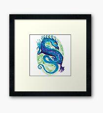 Blue Water Dragon Framed Print