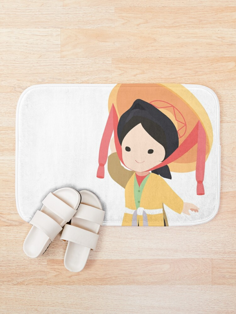 Alternate view of Vietnamese traditional four parts dress Bath Mat