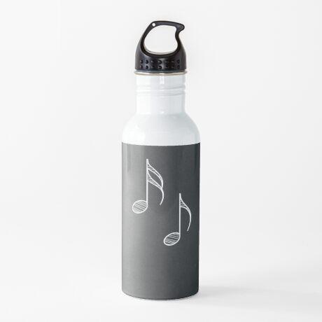 Musiknoten auf Tafel 4 Trinkflasche