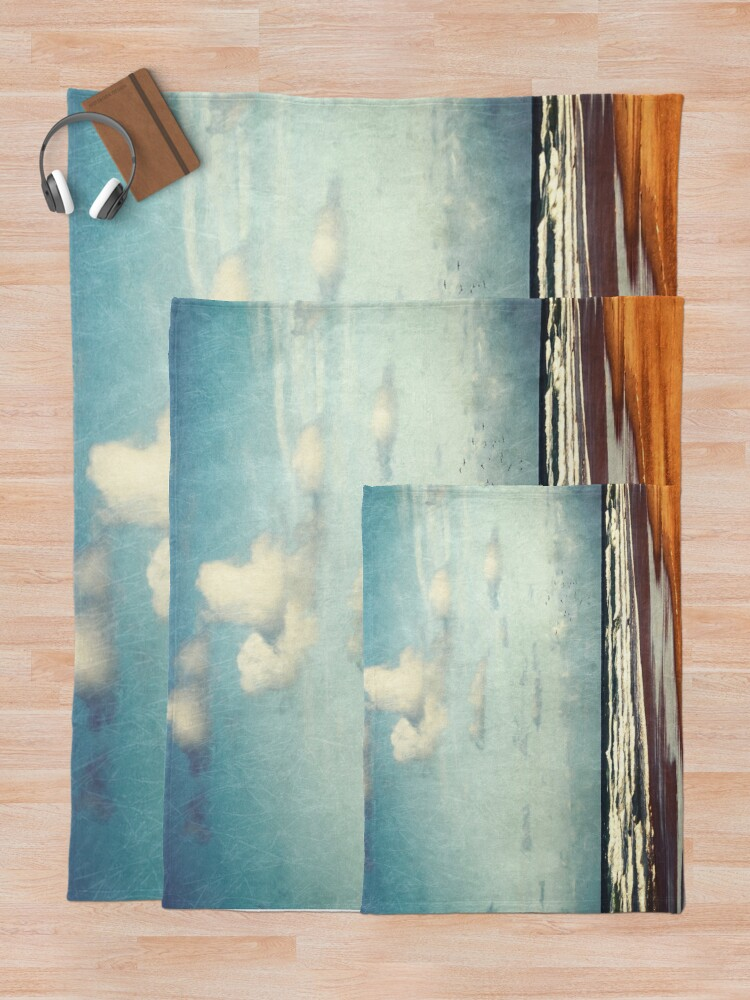 Alternate view of Beach - a photo painting Throw Blanket