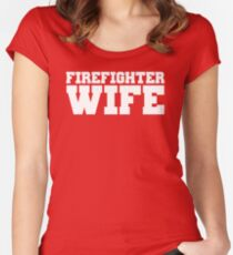 Firefighter Wife Women's Fitted Scoop T-Shirt
