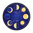 Celestial Atlas :: Lunar Phases by Jenny Lloyd