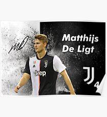 Matthijs De Ligt Football Poster