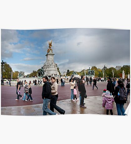 Queen Victoria Memorial: Buckingham Palace, London, UK. Poster