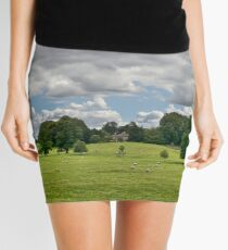 Sheep Grazing the Meadow Mini Skirt