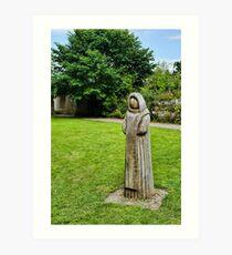 Cistercian Monk Sculpture Art Print