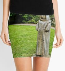 Cistercian Monk Sculpture Mini Skirt