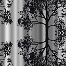 Silver Birch Abstract by Pam Amos
