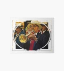 Jazz At The Quinta Bolivar Art Board Print