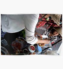 Preparing Street Food in Saigon Poster