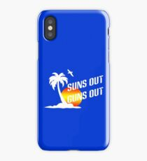 Suns out guns out geek funny nerd iPhone Case/Skin