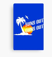 Suns out guns out geek funny nerd Canvas Print