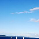 Sailboats on a quiet Sea by Bertspix1