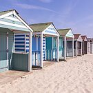 Pastel stripey beach hut love *2* by Zoe Power