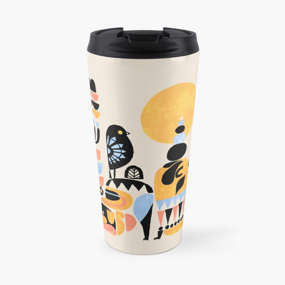 Scandinavian Pug Yoga Travel Mug