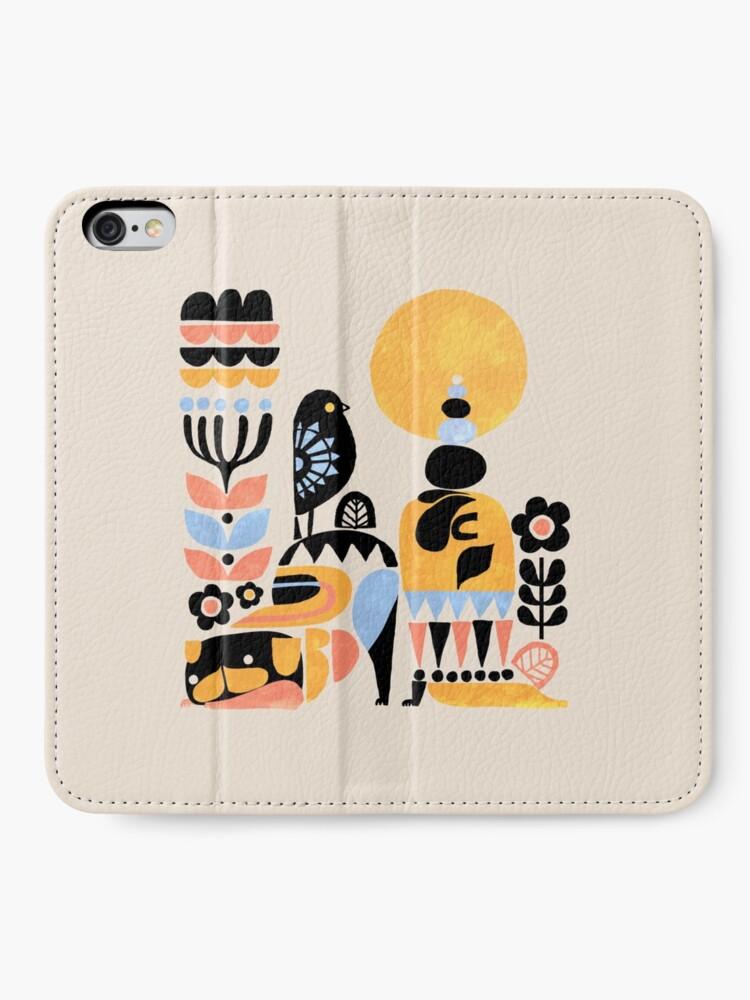 Alternate view of Scandinavian Pug Yoga iPhone Wallet